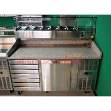 R272 Pizza Prep Counter Refrigerator